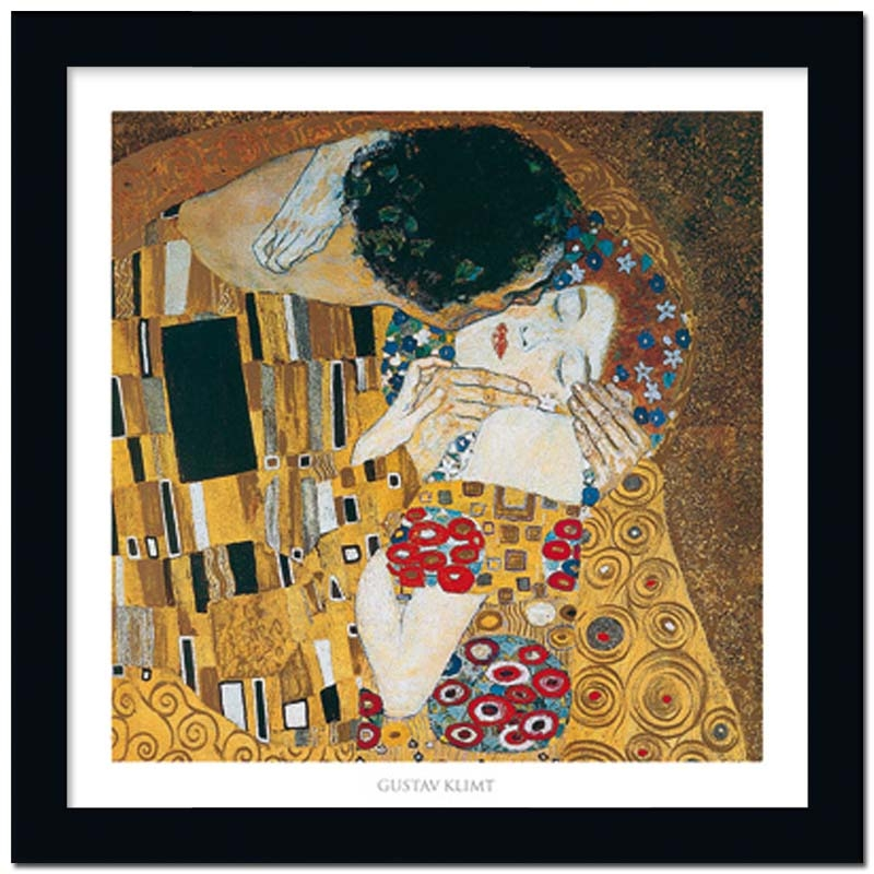 der kuss ausschnitt gustav klimt ca 70x70cm. Black Bedroom Furniture Sets. Home Design Ideas