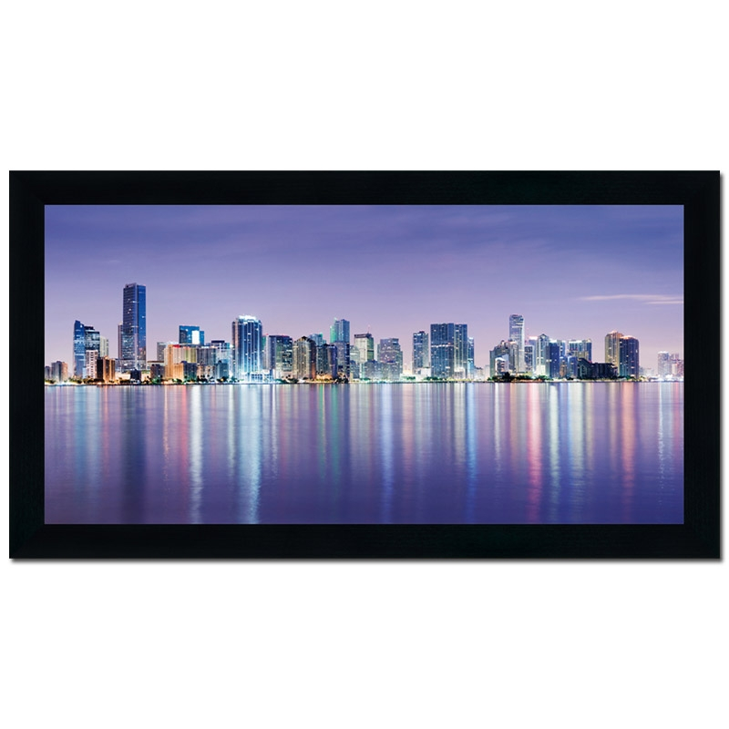 wandbild gerahmt colorado 50x100cm usa new york skyline. Black Bedroom Furniture Sets. Home Design Ideas