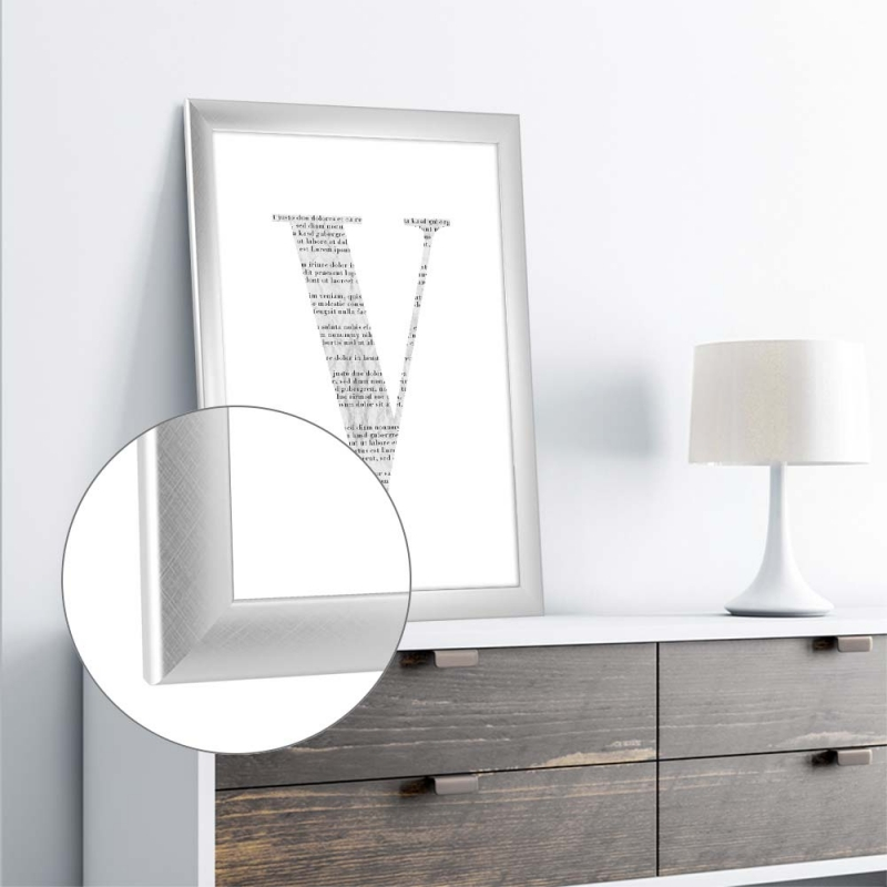 bilderrahmen valencia 80x100cm alu geb rstet anti. Black Bedroom Furniture Sets. Home Design Ideas