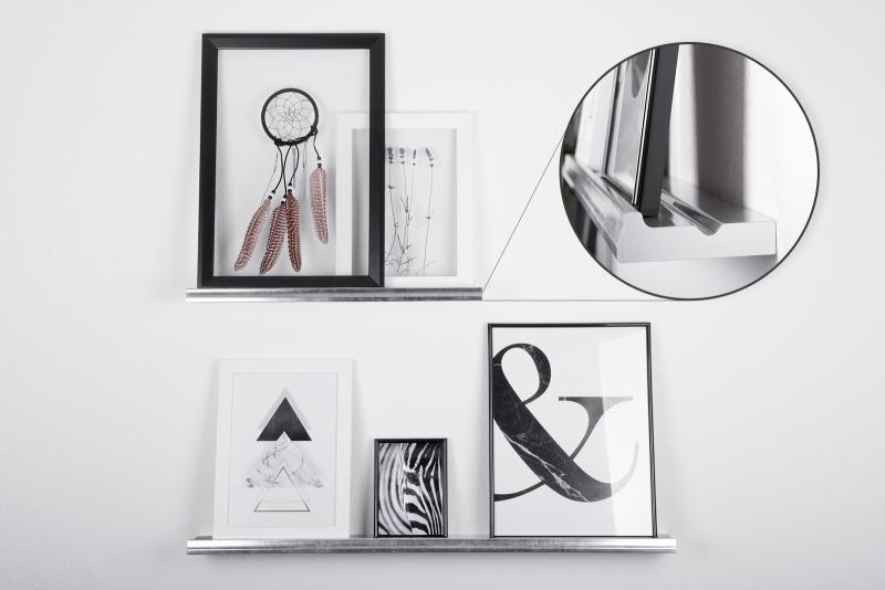 bilderleiste bilderboard wandregal designboard. Black Bedroom Furniture Sets. Home Design Ideas