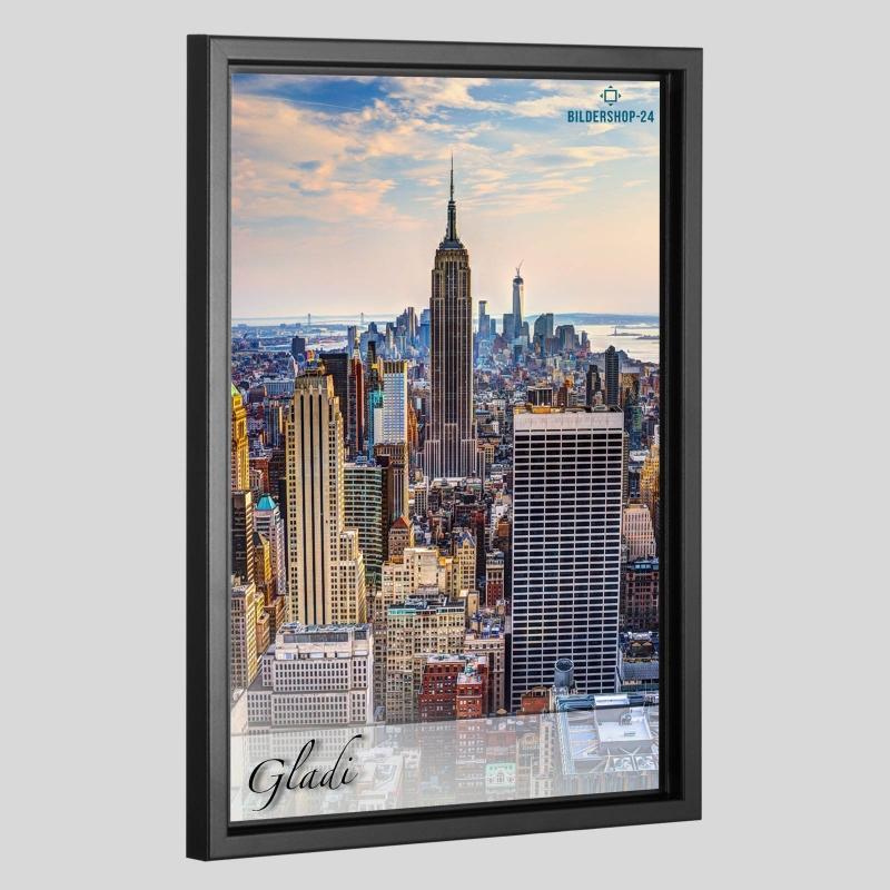 schattenfugenrahmen gladi 5 f r acrylglas forex alu dibond glas. Black Bedroom Furniture Sets. Home Design Ideas