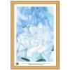 White Rose With Larkspur II, ca. 80x60cm